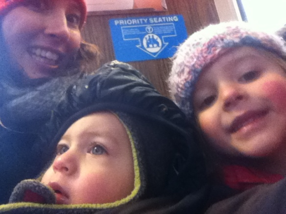 Riding the choo choo train. Just kidding, Duke hates this.