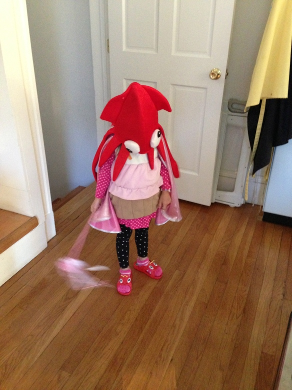 Squid Cupcake's super powers include dragon sandals.