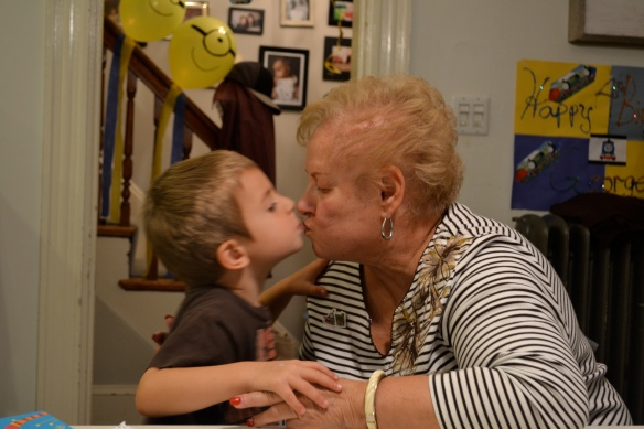 Grammy stayed over, just so she could give me a smooch. (Okay, and hang out.)